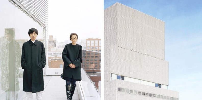 Tokyo-based architects Kazuyo Sejima and Ryue Nishizawa/SANAA at the New Museum of Contemporary Art in New York