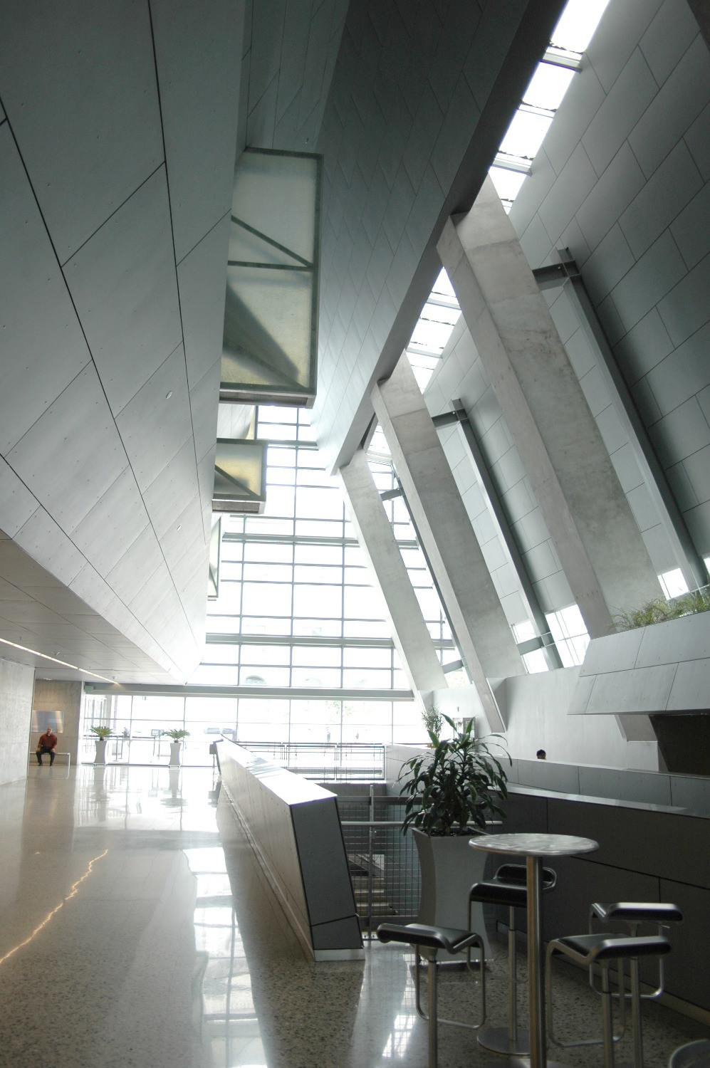 Inside Morphosis's Federal Building lobby in San Francisco, California