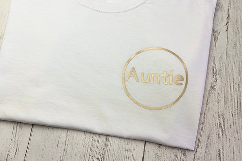 Gold Auntie T-Shirt