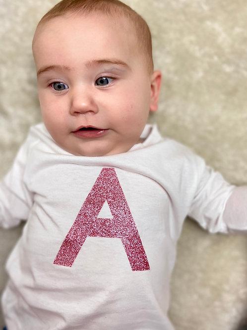 Glitter Letter T-shirt's