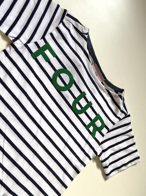 Striped Short Sleeve Age Four Tee