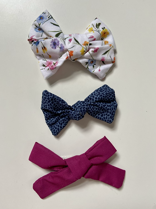 Bright Floral & Animal Print Handmade Hair Bows