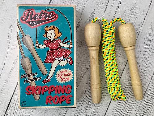 Retro Wood Handle Skip Rope