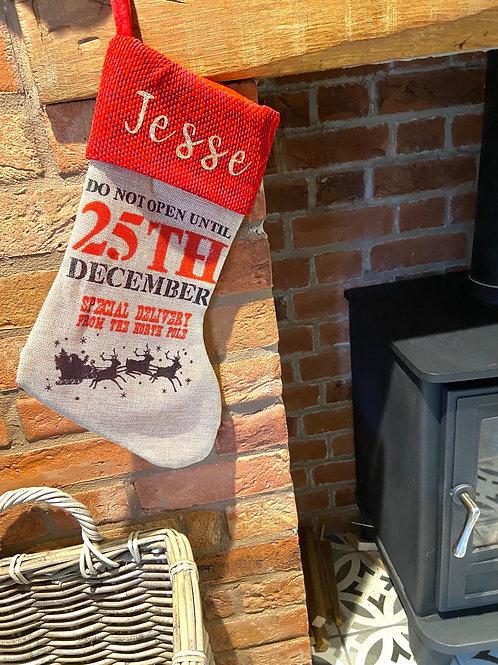 Personalised Christmas Socking