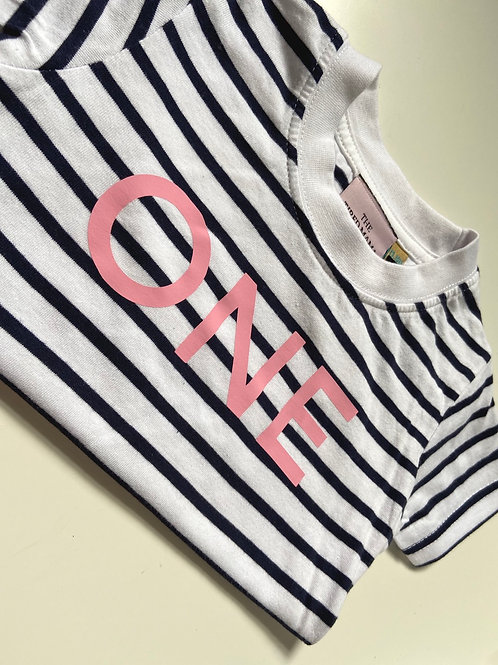 Striped Short Sleeve Age One Tee