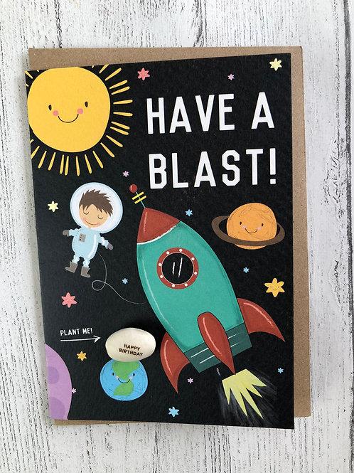 Space Bean Birthday Card