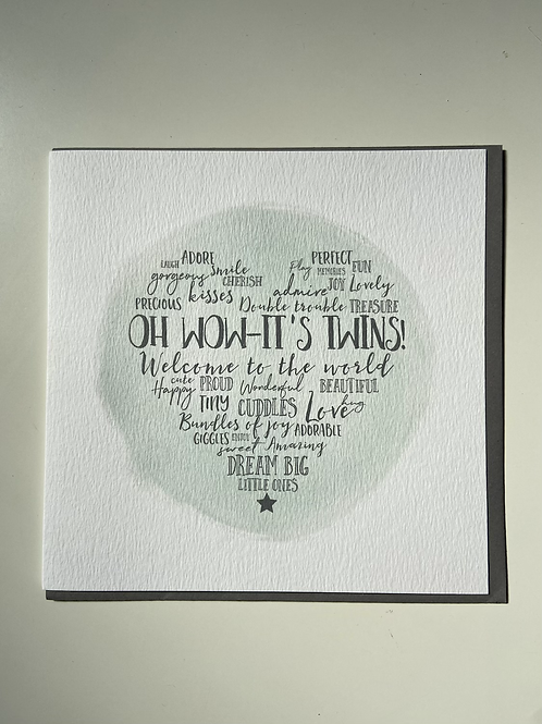 Oh Wow-It'sTwins! Greeting Card