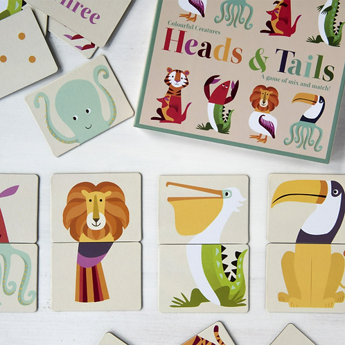 Colourful Creatures Heads and Tails Game