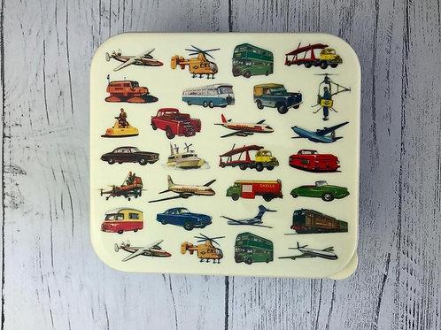 Vintage Transport Lunch Box