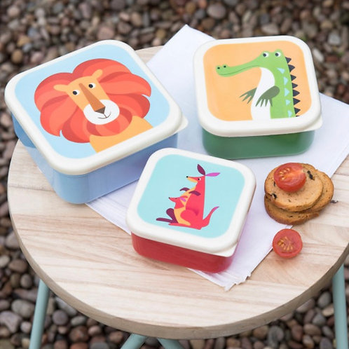 Colourful Creatures Stacking Lunch Boxes (Set of 3)