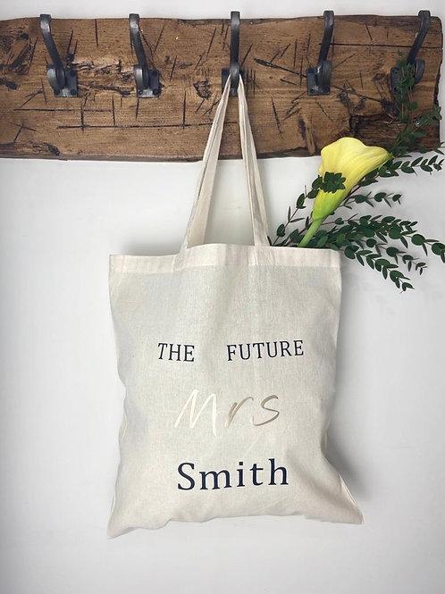 """The Future Mrs.... "" bag"
