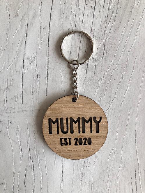 Mummy Est 2020 Key Ring