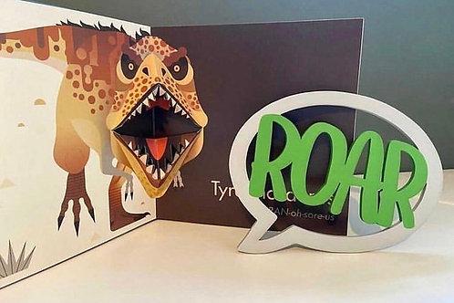 Wooden Roar Speech Bubble Sign