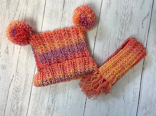 Hand Knitted Tea Bag Hat Set