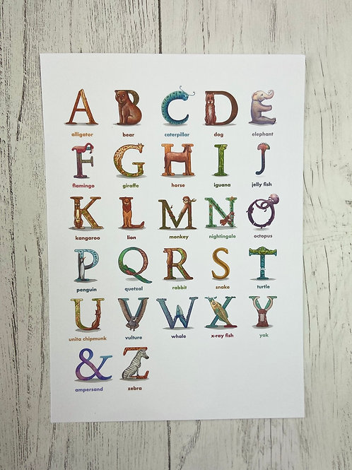 The Animal Alphabet Print