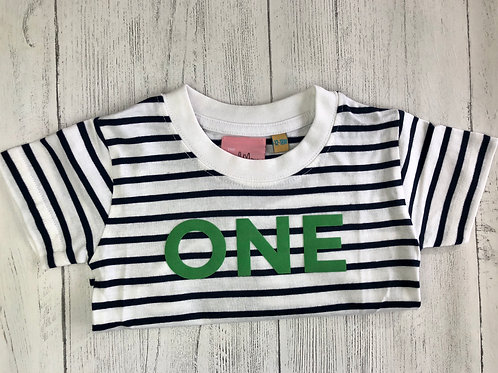 Striped Age One Short Sleeve Tee