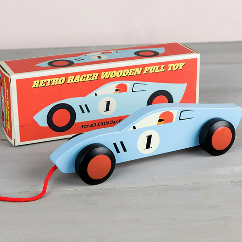 Retro Racer Wooden Pull Toy