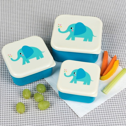 Elvis the Elephant Lunch Boxes Set of 3