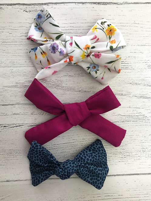 Bright Floral & Animal Print Handmade Hair Bows