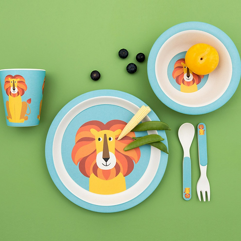 Charlie The Lion Bamboo Tableware