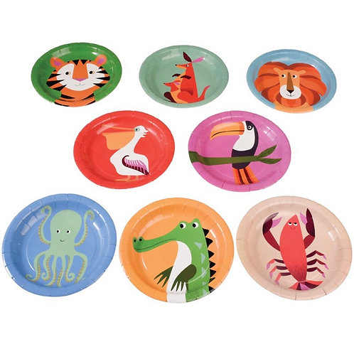 8 Colourful Creatures Paper Plates