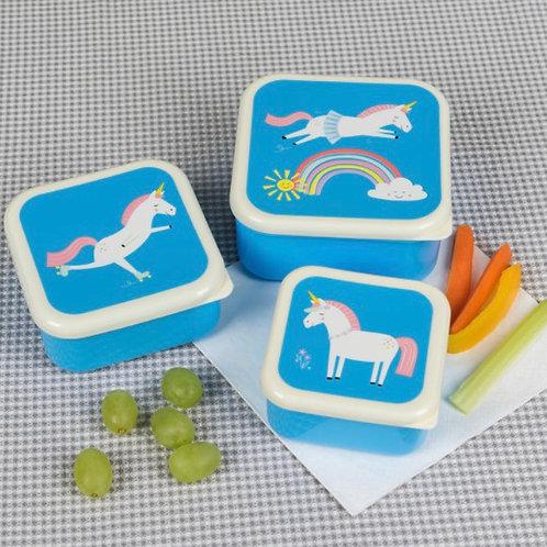 Magical Unicorn Snack Boxes (set Of 3)