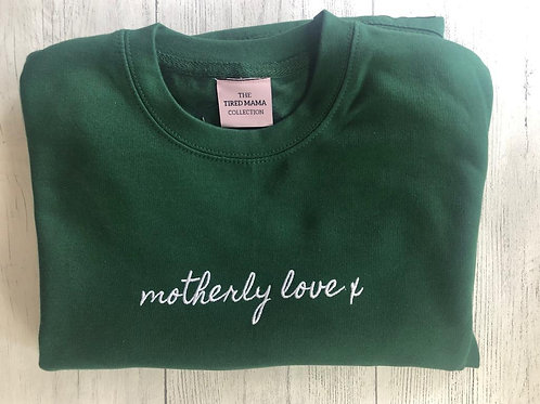MOTHERLY LOVE X  Green Embroidery Jumper