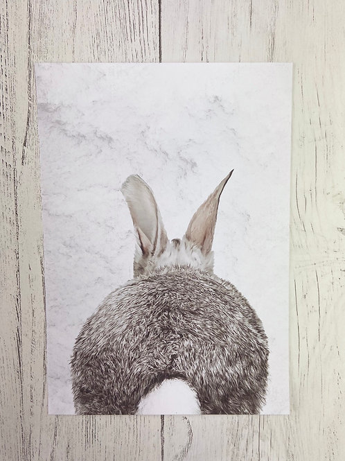 Marble Print Rabbit - Back