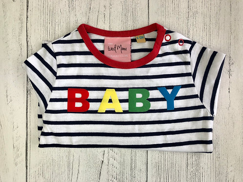 Baby Striped Long Sleeve Patch Tee