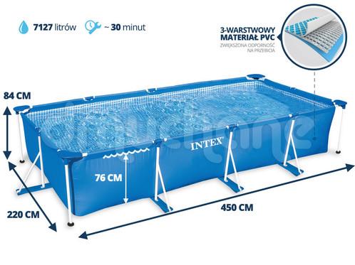Intex Small Frame Pool Rectangular X X