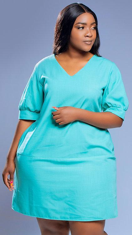 Mint green shift dress