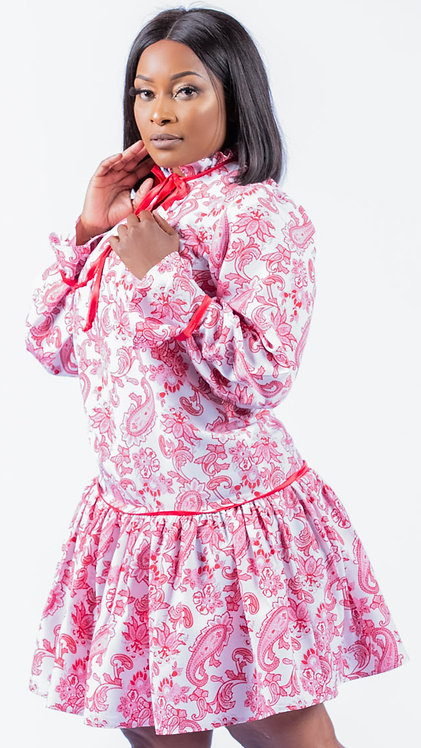 Paisley print dress - Red