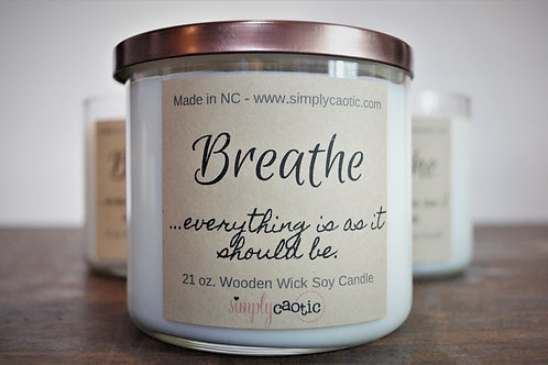 3 Wooden Wicks Soy Wax Candle