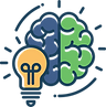 brain lightbulb ideas strategy