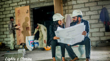 Pre Wed at Construction Site