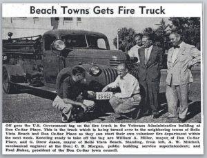 Beach Firetruck Vintage