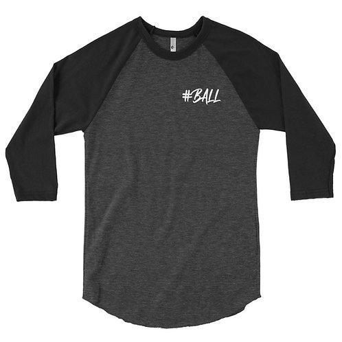 Ball 3/4 sleeve raglan shirt