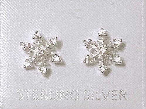 Silver 925 snowflake earrings