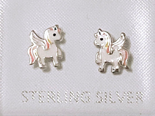 Solid Silver 925 Unicorn Earrings
