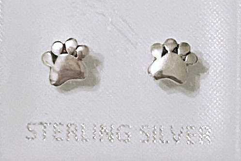 Silver 925 Paw Earrings