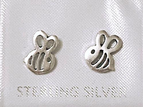 Silver 925 Bee Earrings