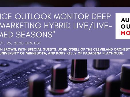 "Deep Dive Webinar: ""Marketing Hybrid Live/Live-streamed Seasons"""