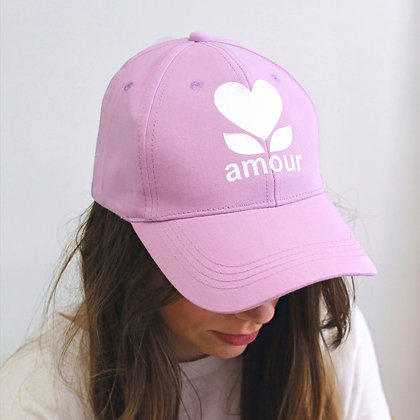Casquette Amour lila
