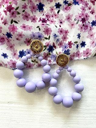 Boucles d'oreilles Meyro lila