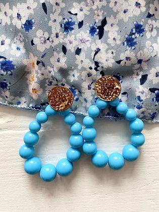 Boucles d'oreilles Meyro bleu