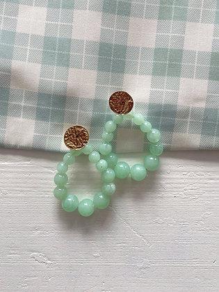 Boucles d'oreilles Meyro vert d'eau