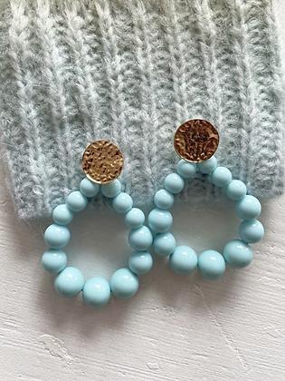 Boucles d'oreilles Meyro bleu clair