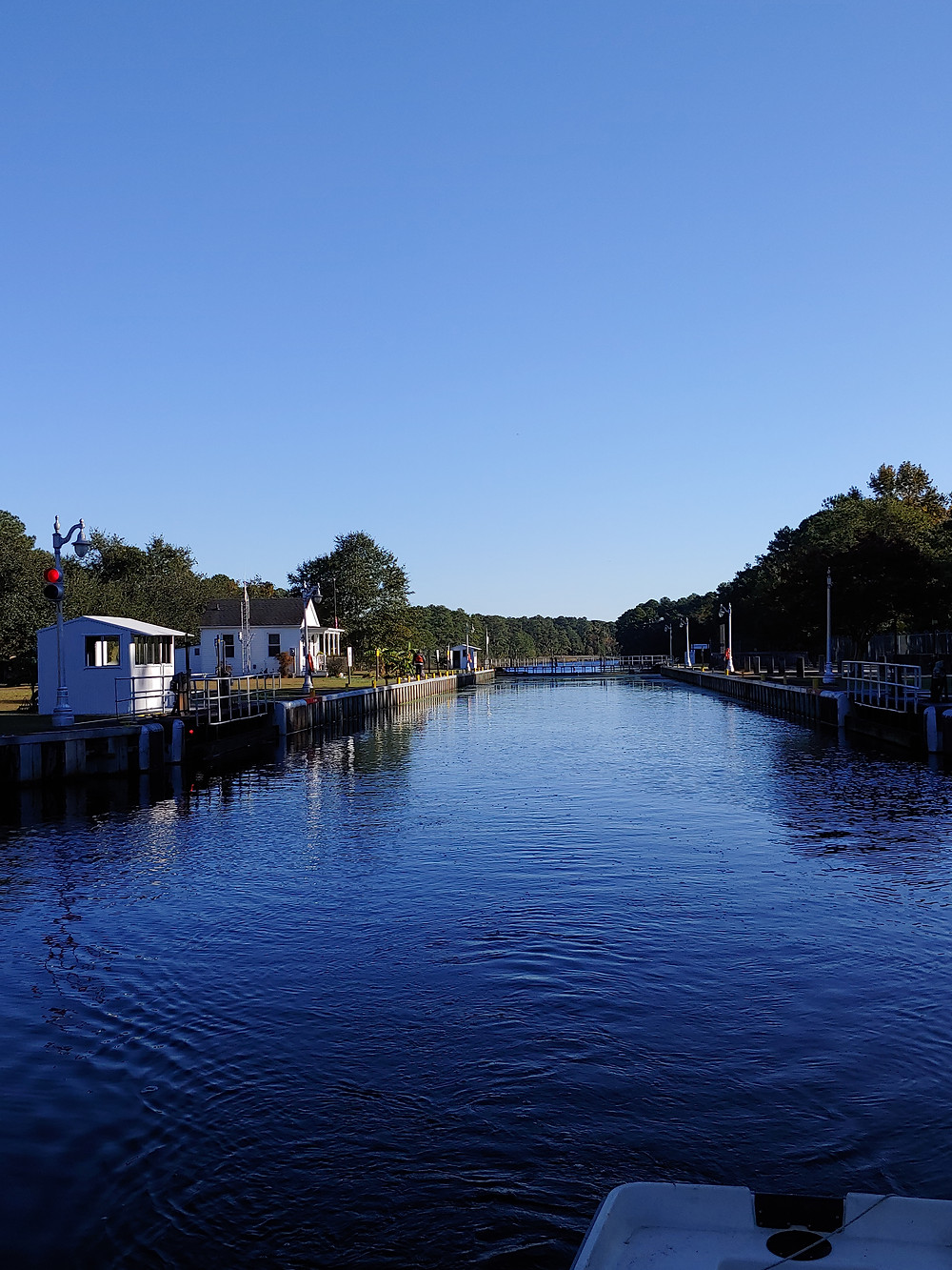 exiting the lock, lock, dismal swamp canal, deep creek lock