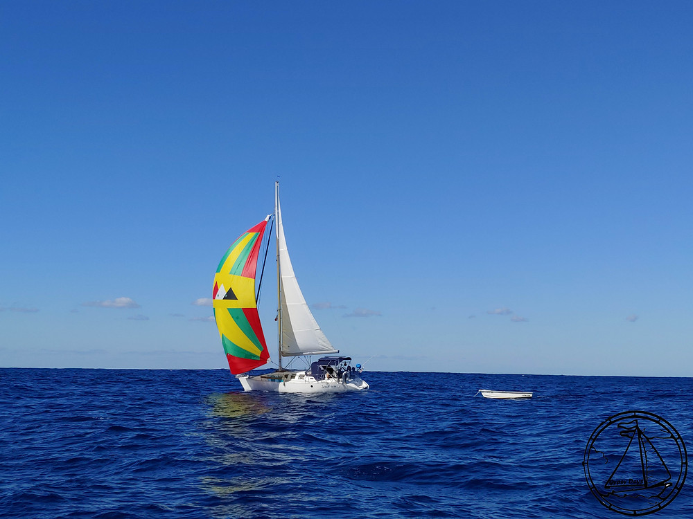 gennaker, crossing, passage, sailboat, sailing, sailing to eleuthera, gypsy days, sv gypsy days, s/v gypsy days, buddy boat