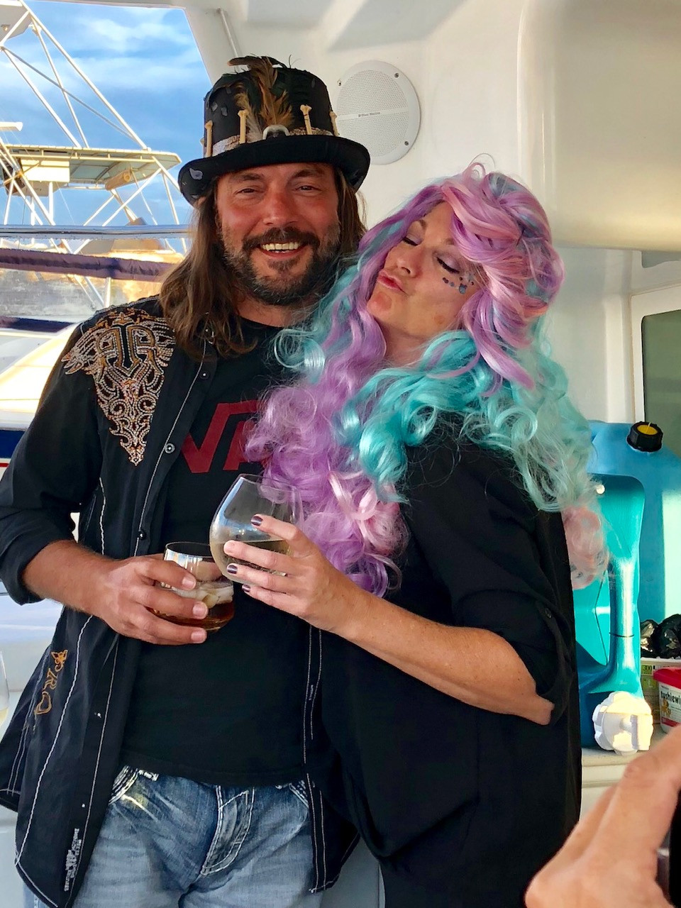two people, sailing music and lyrics, party, dress-up, gypsy days
